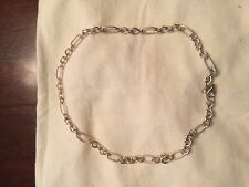 Sterling Silver Cable /Smooth Link Necklace 20 inch NWOT