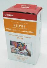 CANON RP-108 recharge papier et encre pour imprimante Selphy