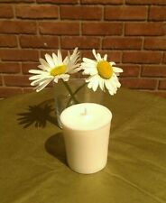 1 Pure & Natural Soy Wax Vegan Votive Candles Unscented 15hr 35mm x 45mm