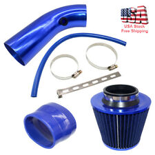 "Set of Blue Cold Air Intake Kit Pipe Diameter 3"" Air Intake Filter & Accessories"