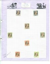 Pages from old stamp album - Iraq -  mint hinged MH
