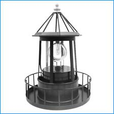 Solar Powered LED Rotating Lighthouse Light Garden Lawn Lamp Yard Outdoor Decor