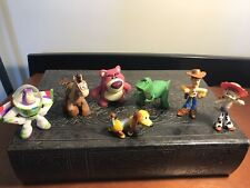 """7 Pc  2""""  Toy Story Figurines Caketoppers Woody Jessie Buz Lightyear"""