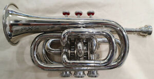 Pocket Trumpet nickel plated tuned in Bb