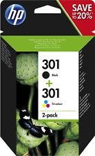 HP 301 Schwarz/3-farbig Tintenpatrone - 2 Stück (N9J72AE)