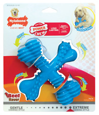 Nylabone Large Dog Dental Chew Toy X Bone, Beef Flavour, Extreme Chewers CD 005P