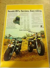 Vintage Suzuki RV90 Dirtbike Rv Poster Advertisement Man Cave Art Christmas