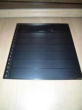 LINDNER 10x Omnia Einsteck Blatt 08 schwarz 8 Streifen mehrfach möglich NEU