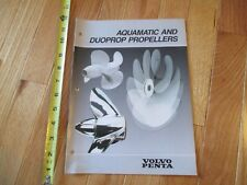 Volvo Penta Aquamatic and Duoprop Propellers Catalog Boat Motors brochure