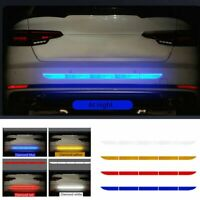 5PCS Reflective Warning Strip Tape Car Bumper Truck Safety Sticker Decal Paster