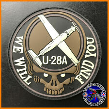 U-28A WE WILL FIND YOU DEADHEAD MORALE PATCH, HURLBURT & CANNON GLOW IN THE DARK