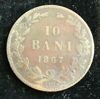 World Coins - 1867 Romania 10 Bani - Collectable Grade - KM # 4.1