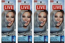 4 x SCHWARZKOPF 125mL LIVE TEMPORARY COLOUR PASTEL SPRAY ICY BLUE Brand New