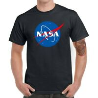 Men T-Shirts Funny NASA Space Graphic Shirt Cotton Short Sleeve Basic Top Tees