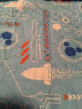 Disney Baby Crib Fitted Sheet Mickey Outer Space Ships Blue