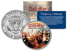 American Civil War BATTLE OF NEW ORLEANS Genuine JFK Kennedy Half Dollar US Coin