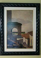 GINO DE LAI PLEIN AIR ITALIAN LISTED ARTIST BRESCIAN PAINTER LAKE GARDA CA 1925