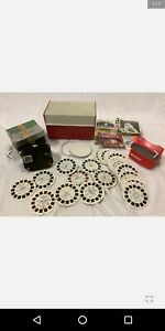 Viewmaster Large Lot With Sawyer Viewmaster inbox and viewmaster case and Disney