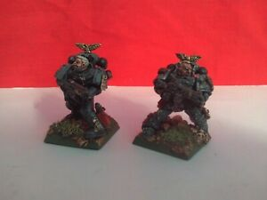 GAMES WORKSHOP PRO PAINTED AND BASED - SPACE MARINES X 2 NEW WARHAMMER
