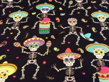 Fabric Day Of The Dead Skeletons 6538, sold by the yard