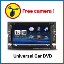 Car DVD Player 2DIN In Dash GPS Navigation+Map FM+Bluetooth+Radio Stereo+Camera