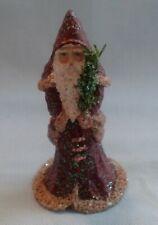 Linda Lindquist Baldwin Belsnickle Miniature Santa With Christmas Tree Figurine