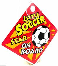 Car Sign Little Soccer Star On Board Sign Suction Cup Vehicle Safety - Football