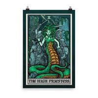 The High Priestess Tarot Card Poster Greek Goddess Medusa Pagan Wall Hanging Art