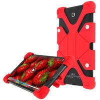 Custodia Tablet 8.9 Da 12 Pollici Universale Auto Silicone Gel Rosso Mode