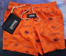 Vilebrequin Embroidered Swim Shorts Mistral 3XL UK 38/40 Summer Orange SilverTip