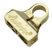 Audiopipe Gold Positive + Battery Post Terminal 0 Ga 4 Ga (2) 8 Ga Output BT705P