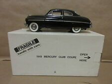 Danbury Mint 1949 Mercury Coupe Black 1/24 Scale Car Automobile Auto