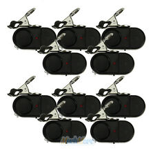 10Pcs Electronic Night Bite Fishing Alarm Alert Bell Clip on Rod with Light NEW