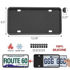 2 Packs Black Silicone License Plate Frames Holder American Auto Frame Universal Fits 2013 Lexus Rx350