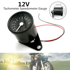12000RPM LED 12V Motorcycle Tachometer Speedometer Gauge Accuracy Motor Bike Kit