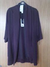 Blazer minima/Lungo Cardigan Taglia M/UK 12 EU 40 Viola Prugna Nuovo Prezzo Consigliato £ 80