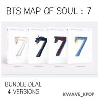 BTS [MAP OF THE SOUL : 7] CD ALBUM -BUNDLE DEAL 4 VERSIONS  KPOP NEW SEALED