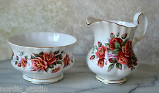 CENTENNIAL ROSE Royal Albert CREAM JUG & SUGAR BOWL SET. bone china