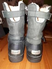 Black Leather Ugg Boots Size 6.5 (EU 39)