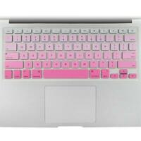 "Rubber Keyboard Skin Cover Film for Macbook Pro 13"" 15"" US Pink"
