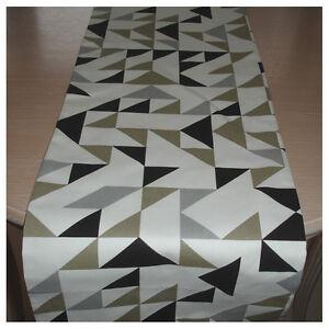 """Table Runner 6ft Black Grey Taupe Beige 72"""" Geometric Modern Retro 180cm NEW"""