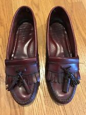COLE HAAN City Pinch Grand Tassel LOAFER Oxford Cordovan LEATHER Shoe Men Sz 9 #