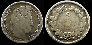 2 Francs Louis Philippe 1er 1848K BORDEAUX  Côte B 100 TB 180€ - Argent