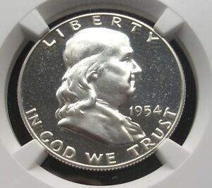 1954 Franklin Half Dollar PF 65 Cameo