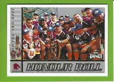 2001SELECT NRL IMPACT SERIES-HONOUR ROLL-HR1-2000 PREMIERSHIP-BRONCOS