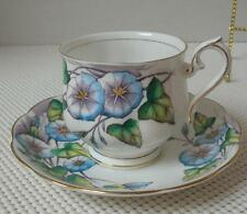 MORNING GLORY Royal Albert TEA CUP & SAUCER Flower of Month Hand Painted China