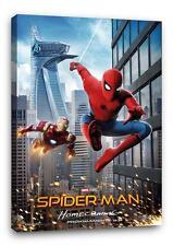 "Spiderman & Iron Man Homecoming Leinen Kunstdruck Foto Pic Poster "" 30x "" 20"