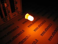 FOGGY 100 DIODI LED LEDS 5mm ARANCIONI LUCE DIFFUSA + RESISTENZE A2B18.A2C48