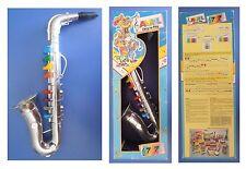 SASSOFONO giocattolo vintage, Avril Bontempi, scatola originale cm 42x16x9,5
