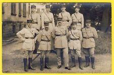 cpa CARTE PHOTO Militaires Soldats Officiers 4ème Régiment Uniformes Médailles